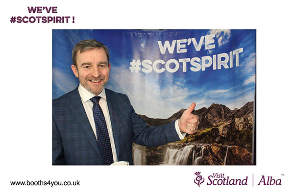 Branded picture from Photo Booth at Corporate Events