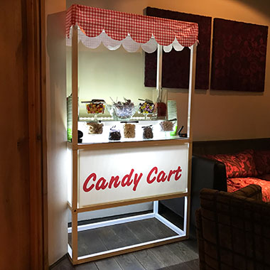 Candy Cart hired for a Wedding at Glenskirlie Castle