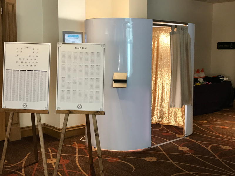 Brilliant White Photo Booth hired for Wedding in Glasgow
