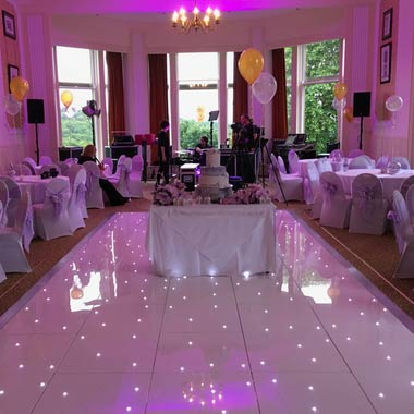 Long White LED Dance Floors for a Party in Pitlochry