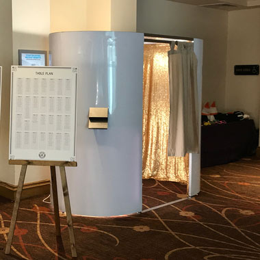 Brilliant White Photo Booth at a Corporate Event