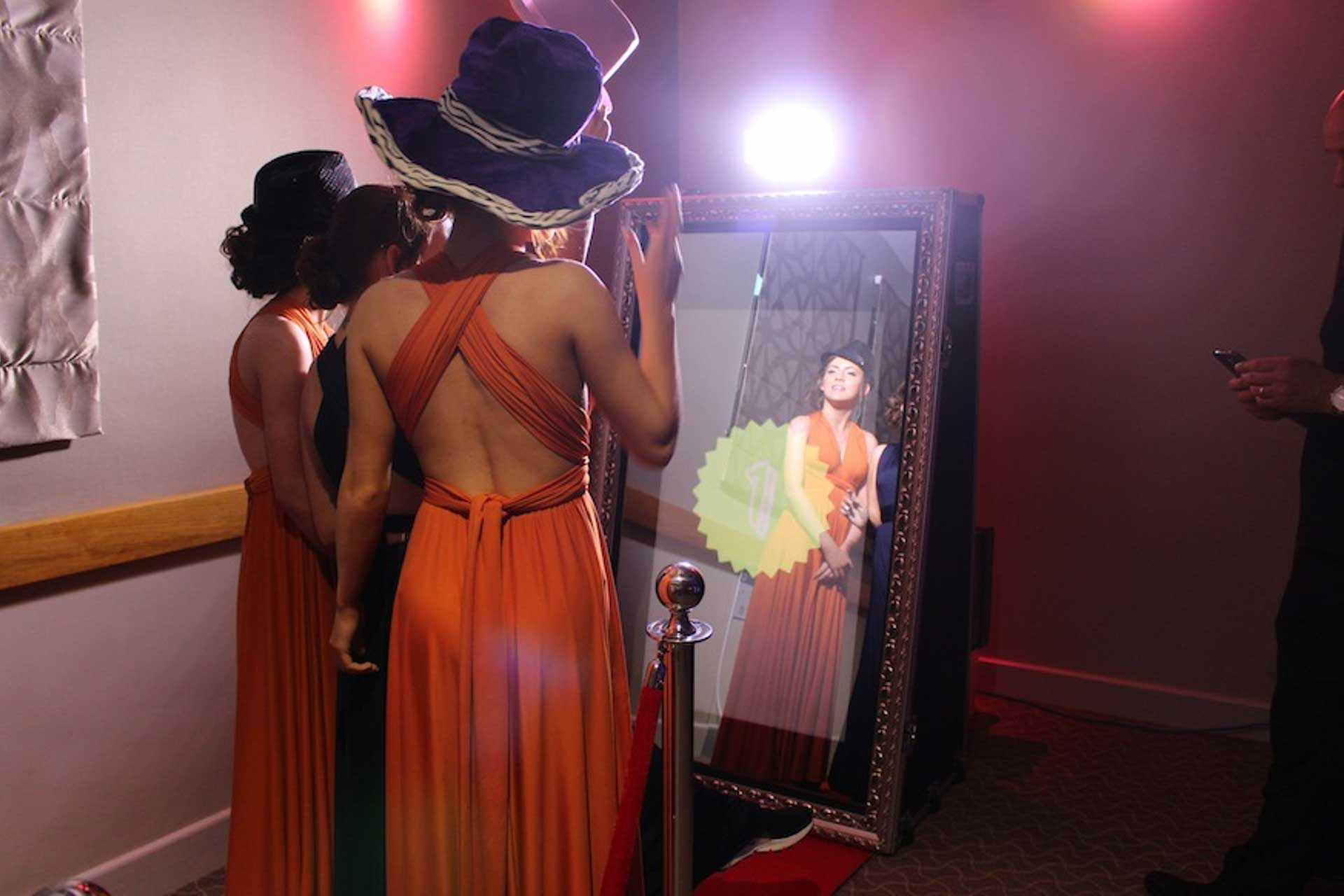 Magic Mirror hired at a Wedding as an alternative to one of our Photo Booths