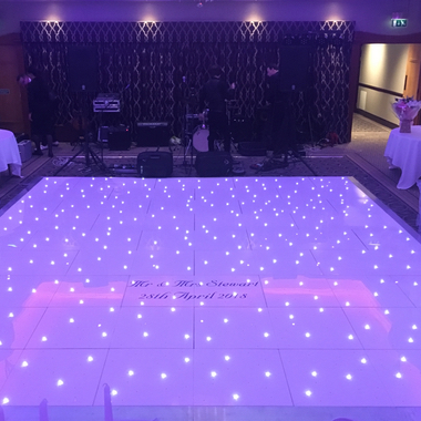 18ft x 16ft White LED Dance Floors Wedding Hire at Parklands Country Club