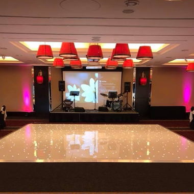 20ft x 20ft White LED Dance Floors hired at The Old Course Hotel in St Andrews