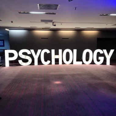 4ft Giant Light Up Letters hired for a Psychology Graduation Ball