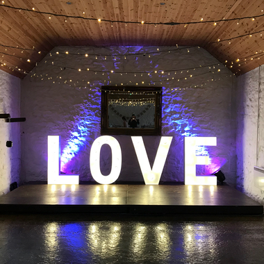 4ft Giant Light Up Letters spelling love