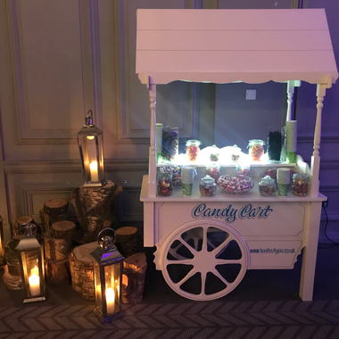 Traditional Wooden Candy Cart for Wedding Hire