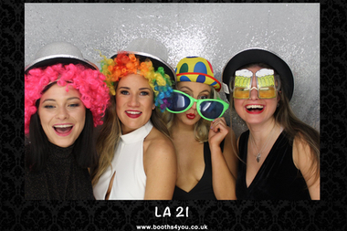Single Picture Template from a 21st Birthday Photo booth Hire in Glasgow