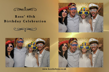 Multiple Picture Template for a Birthday Photo Booth Hire in Glasgow