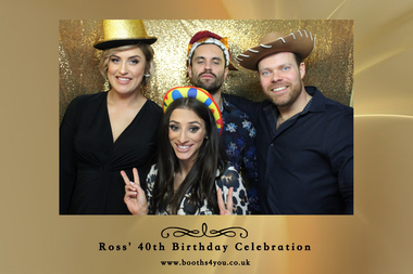 Single Picture Template for a Birthday Photo Booth Hire