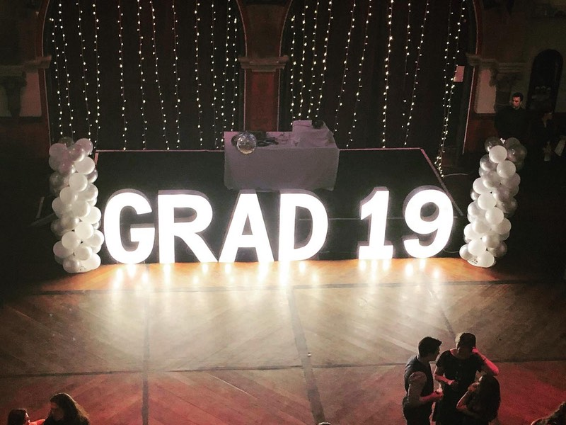 Light Up Letters & Numbers for a Graduation party