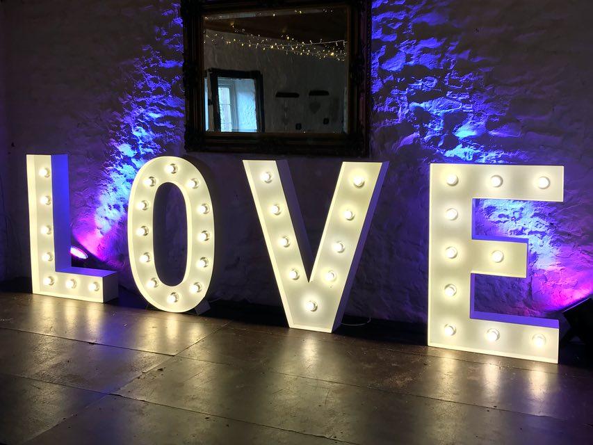 Glasgow Light Up Letters