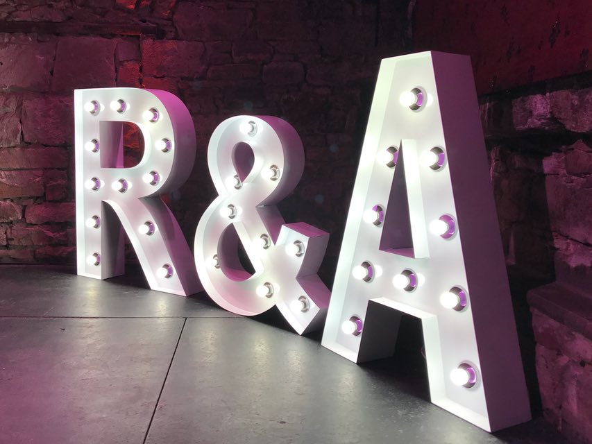 North Lanarkshire Light Up Letters