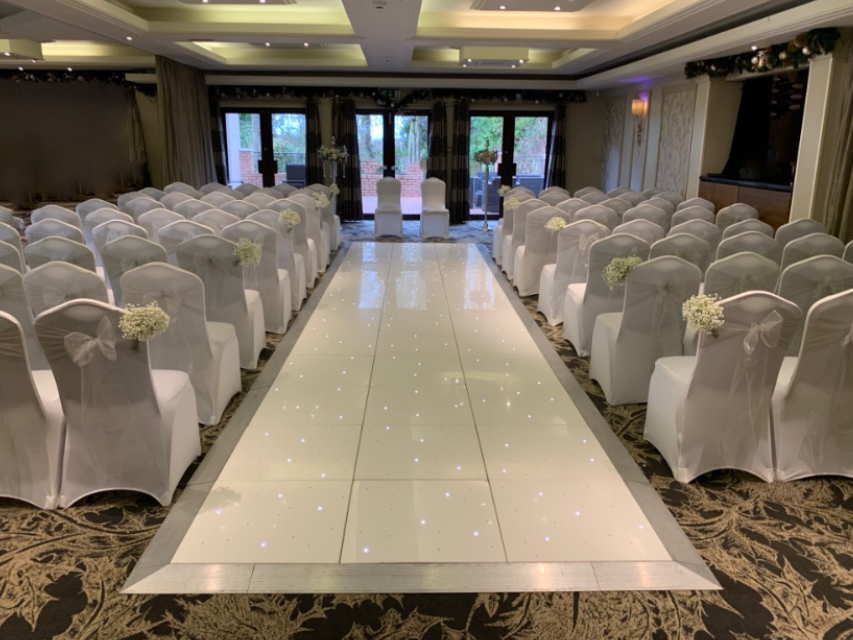 LED Dance Floor can also be used as an amazing Starlit LED Wedding Aisle.