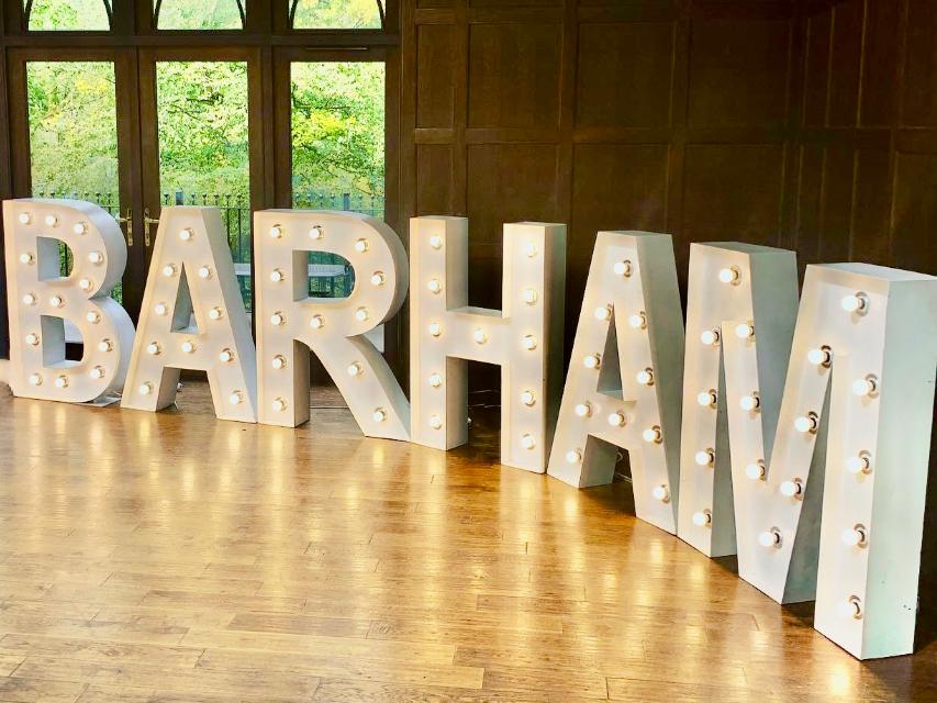 Fantastic Giant Light Up Letters to enhance venue decoration