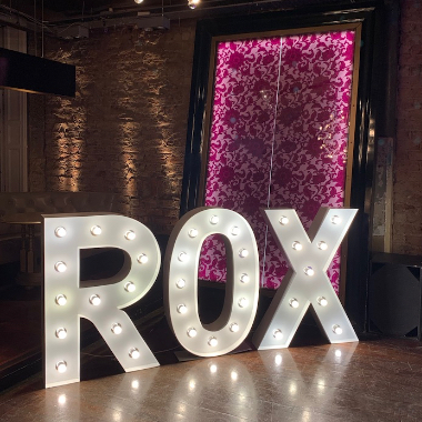 Light Up Letters Advertising Rox Jewellers