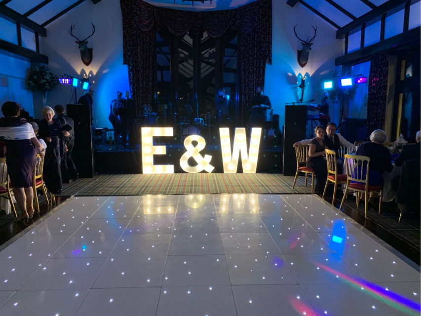 LED Dance Floor Venue Decoration with Light Up Letters