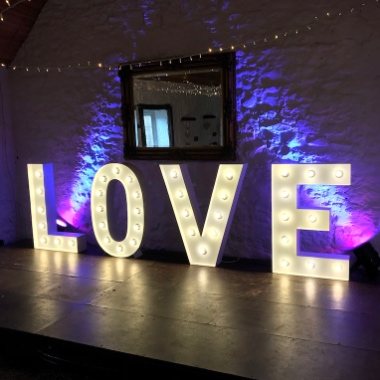4ft Giant Light Up Letters Hire