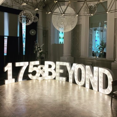 Our 4ft Giant Light Up Letters and Numbers are perfect to hire