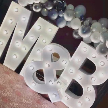 Giant Light Up Letters are the Perfect finishing touch or centre piece