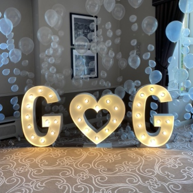 Light Up Initials, perfect for a Wedding, Engagement or Anniversary Party