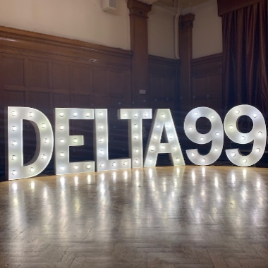 Giant Light Up Letters hired for a University reunion