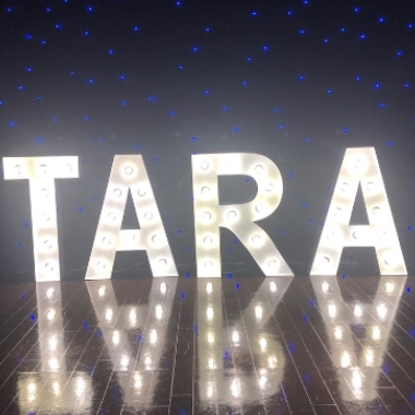 Hire our Giant Light Up Letters to spell your name for a Birthday Party