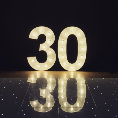 Light Up 30th Birthday Numbers