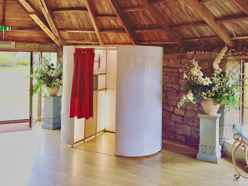 Beautiful White Photo Booth perfect for weddings